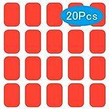 MOREASE 20 Pcs EMS Gel Pad Electrostimulation,Patch pour electrostimulateur, Feuille de Gel de Rechange pour Electrostimulateur Musculaire Abdominale (2019 Nouvelle Version)