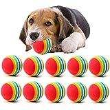 10Pcs Juguetes Bolas para Perros, Mignon Juguete Pelotas Coloridas de Espuma del Arco Iris Actividad Juguetes Divertidos Herramienta de Formación para Animales Mascota Perro Gato Cachorro