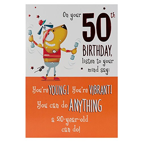 Hallmark 50th Birthday Card Young And Vibrant