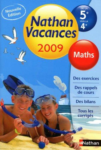 Maths de la 5e vers la 4e Nathan vacances