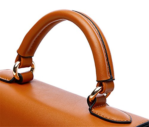 Xinmaoyuan Sacs à main pour femme en cuir d'été Sacs à main sac de messager d'épaule Paquet Spiraea yellow