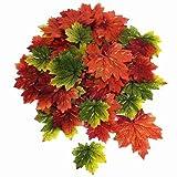 Deko Herbstblätter Ahornblätter bunt, Ø: ca.5/7/8 cmT, 72 St.-Beutel, Kunststoff/Textil