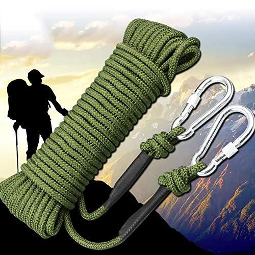 Corde d'escalade Corde d'escalade extérieure, corde de randonnée d'escalade de secours de corde de survie, corde d'escalade d'évasion de feu, approvisionnements d'équipement d'urvival en plein air