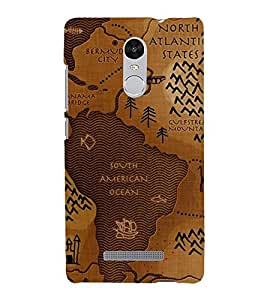 Fiobs Designer Back Case Cover for Xiaomi Redmi Note 3 :: Xiaomi Redmi Note 3 Pro :: Xiaomi Redmi Note 3 MediaTek (Inverted Ocean Instead Of Continent)