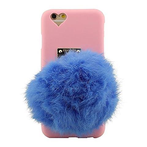 Ultra Mince Léger Doux iPhone 6 Plus 6S Plus Case Cover Coloré Peluche Balle Conception Coque Housse Étui de Protection pour iPhone 6 Plus 6S Plus (5.5 Pouce) ( iPhone 6 6S 4.7 Pouce Pas A'adapter )