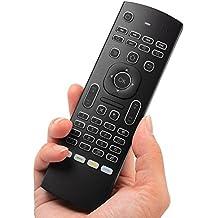 Rii Mini MX3+ Wireless - Mando a distancia retroiluminado con Mouse giroscópico y Mini teclado para Android, Windows, Mac, PlayStation