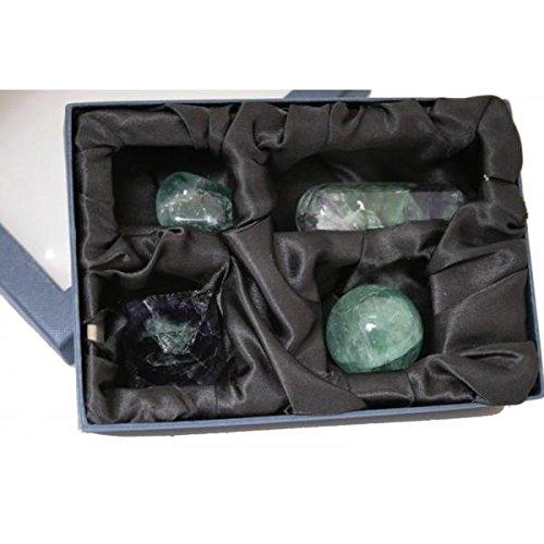 Re . shop kit per cristalloterapia con pietra semipreziosa naturale fluorite