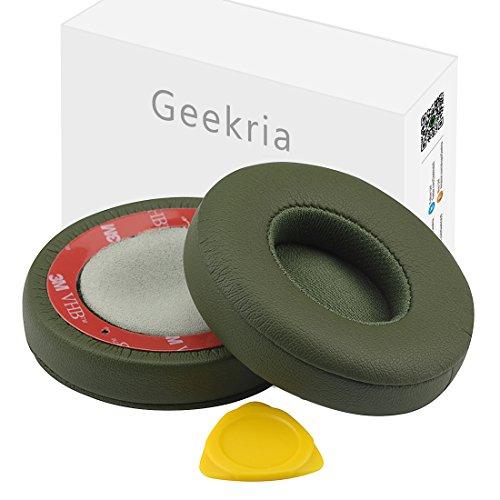 Geekria ear-pad per Beats by Dr. Dre SOLO3, solo 3.0On-Ear cuffie auricolari di ricambio Pad/orecchio cuscino/coppe/orecchio cover/Earpad parti di riparazione (TURF Green)