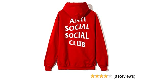 00d5810caf35 Anti social social club hoodie RED as worn by Kanye West yeezy   Amazon.co.uk  Clothing