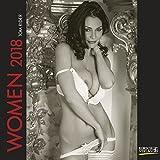 Women 2018: Broschürenkalender mit Ferienterminen. Erotik-Kalender in schwarz weiß. 30 x 30 cm