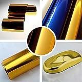 Chrom 3D Flex Folie Gold BLASENFREI 0,3m x 1,52m mit Luftkanäle