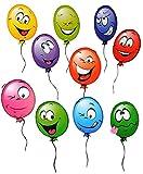 Set: Fensterbilder - Ballon - Ballons - BEIDSEITIG bedruckt -