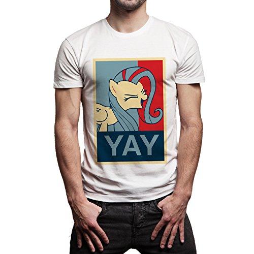 SWAG Yay Good Locking Unicorn Background Herren T-Shirt Weiß