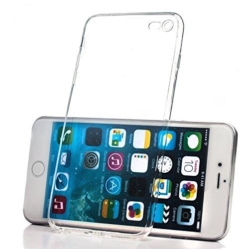 Apple iPhone 6/6S + PLUS (5.5 Zoll) | iCues Colorado TPU Case Klar | Staubschutz durch Staubstecker Stöpsel mit Kamera Schutz Staubdicht Dust Proof Extra Leicht sehr Dünn Transparent Klarsichthülle Du Blau
