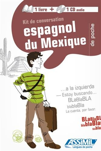 Kit de conversation espagnol du Mexique (guide +1CD audio)