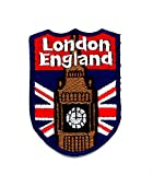 Little Bear Shop Cartoon Patches London England Shield Flagge UK GB British London Cartoon Kinder Patch Hand Bestickt und Bügelbild Symbol Jacke T-Shirt Patches aufnäher Zubehör