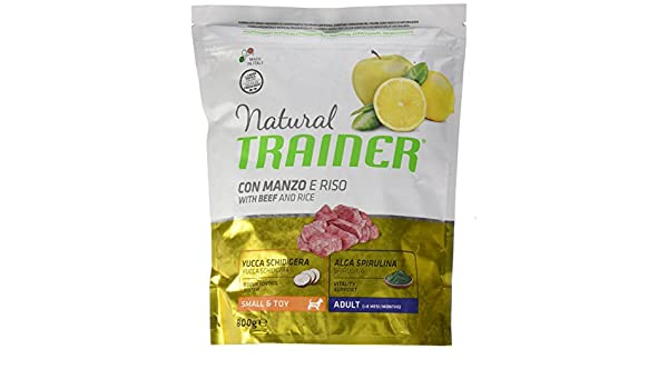 Einheitsgr/ö/ße Mehrfarbig Natural Trainer Trainer Natural Small Manzo Riso GR 800 Cibo Eimer f/ür Hunde