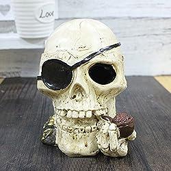 Toim con diseño de cráneo de resina de moda original decoración escritorio de fumar para oficina en casa decoración