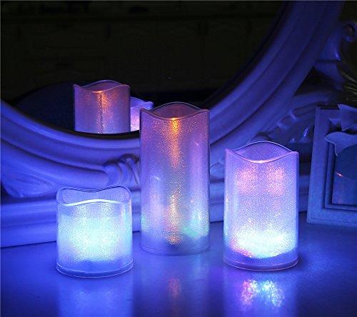 loguide LED flicke Anillo sin llama vela funciona con pilas K ¨ ¹ nstliche S?ULE velas GRO?Comercio Decoración mittelst ¨ ¹ CKE Juego de 3