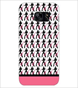 PrintDhaba Music pattern D-1911 Back Case Cover for SAMSUNG GALAXY S7 (Multi-Coloured)