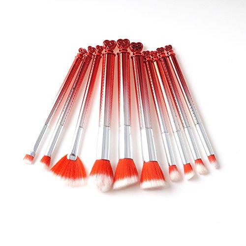 Blaward Make-up Pinsel Kosmetik 10Pcs / Set Brush Foundation Bürsten Gesichtspinsel