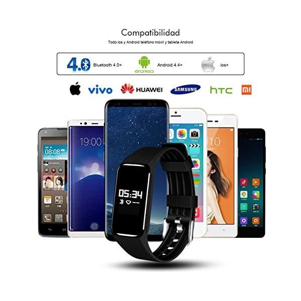 Fitness Tracker QIMAOO K1 Pulsera Actividad Inteligente IP68 Impermeable 7