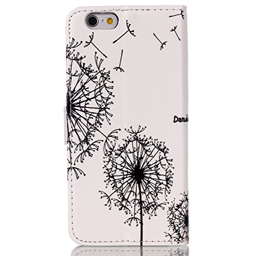 iPhone 6S Plus Coque Femme,iPhone 6S Plus Coque en Cuir Folio Etui,Coque Etui pour iPhone 6S Plus,iPhone 6S / 6 Plus Wallet Leather Flip Case Protective Cover,EMAXELERS iPhone 6S Plus Etui de Protecti Dandelion Lover 2