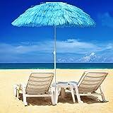Greenbay Sonnenschirm Hawaii Strandschirm Gartenschirm Balkonschirm Schirm Ø160cm Blau