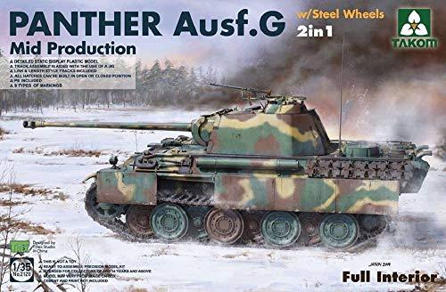TAKOM TKA2120 2120 1/35 Panther G - Ruedas de Acero 2 en 1 (Interior Completo), Multicolor