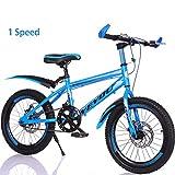 Bike Kinderfahrräder 7 Geschwindigkeit Fahrräder 18 Zoll 20 Zoll Mountainbikes Für Jungen Und Mädch Scheibenbremse,Blue,18In