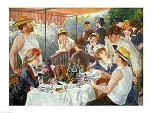 Pierre-Auguste Renoir – Le déjeuner des canotiers 1881 Impression d'art Print (60,96 x 45,72 cm)