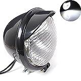 tuincyn Motorrad Scheinwerfer Lampe Lampe DC 12 V 10 W Retro Rund Motorrad weiß Running Light Universal für für Harley Chopper Bobber Custom (1 Stück)