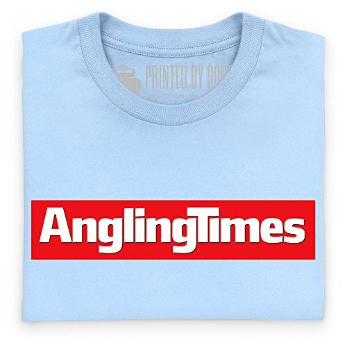 Angling Times Logo T-Shirt, Herren Himmelblau