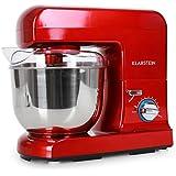 Klarstein Gracia Rossa II robot de Cuisine pâtissier multifonctions (5 litres, 1000W, 10 ...