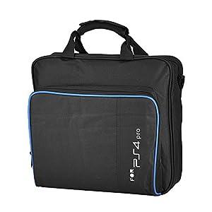 Garsent Tasche für Playstation 4 Pro, Reise Tragetasche Konsolen Umhängetasche für PS4, PS4 Pro, PS4 Slim