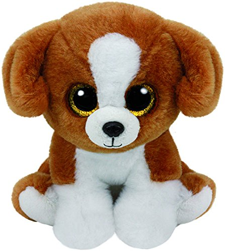 ty-beanie-babies-snicky-perro-15-cm-color-blanco-marron-united-labels-iberica-42182ty