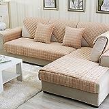 Otoño/invierno franela acolchada cojines de sofá/ toalla de sofá de felpa corta minimalista moderno/ conjunto de sofá de cuero de estilo europeo-E 90x180cm(35x71inch)