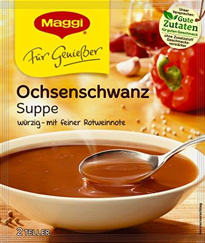 Maggi Für Genießer, Ochsenschwanz Suppe, 42 g Beutel (ergeben 1 L) Für 4 Teller