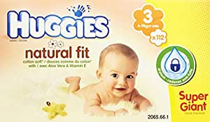 Huggies - 2065661 - Natural Fit Taille 3 - Super Giant Box - 112 Couches