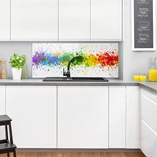 Bilderwelten Paraschizzi in vetro - Rainbow Splatter - Panoramico ...