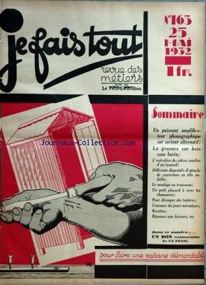 JE FAIS TOUT [No 162] du 18/05/1932