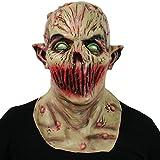 thematys Dead Silence Alien Zombie Maske - perfekt für Fasching, Karneval & Halloween - Kostüm für Erwachsene - Latex, Unisex Einheitsgröße
