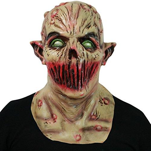 thematys Dead Silence Alien Zombie Maske - perfekt für Fasching, Karneval & Halloween - Kostüm für Erwachsene - Latex, Unisex Einheitsgröße (Zombie Maske Halloween,)
