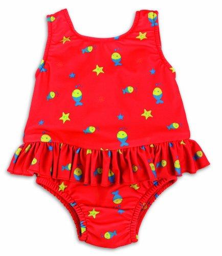 Preisvergleich Produktbild Bambinomio Baby Badeanzug mit Schwimmwindel XL - rot