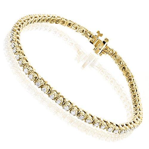 luxurman-round-diamond-tennis-bracelet-in-10k-gold-yellow-gold