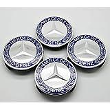 Ss 4x Mercedes Benz Centre Caps 75mm Legering Wiel Badges Blauw Hub Embleem 2019
