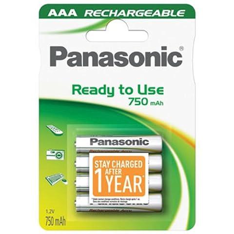 Panasonic INFINIUM Akku (READY 2 USE) P03I Ni-MH Micro (AAA) 1,2V 800mA, 4er Pack in Blister
