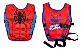 #6: Wishkey Swimming Adjustable Life Jacket Vest Super Hero Character Floating Belt Water Sports Pool Accessories Swimming Training Buoyancy Float for Kids 3 to 8 Years