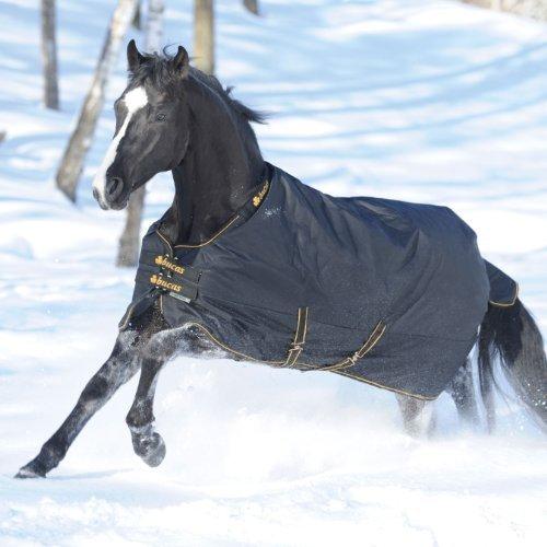 Kerbl BUCAS Irish Turnout Pferdedecke Extra 300g, schwarz/Gold, 145 cm