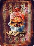 Alchemy Gothic Eat Me Cupcake Blechschild (40x30cm)